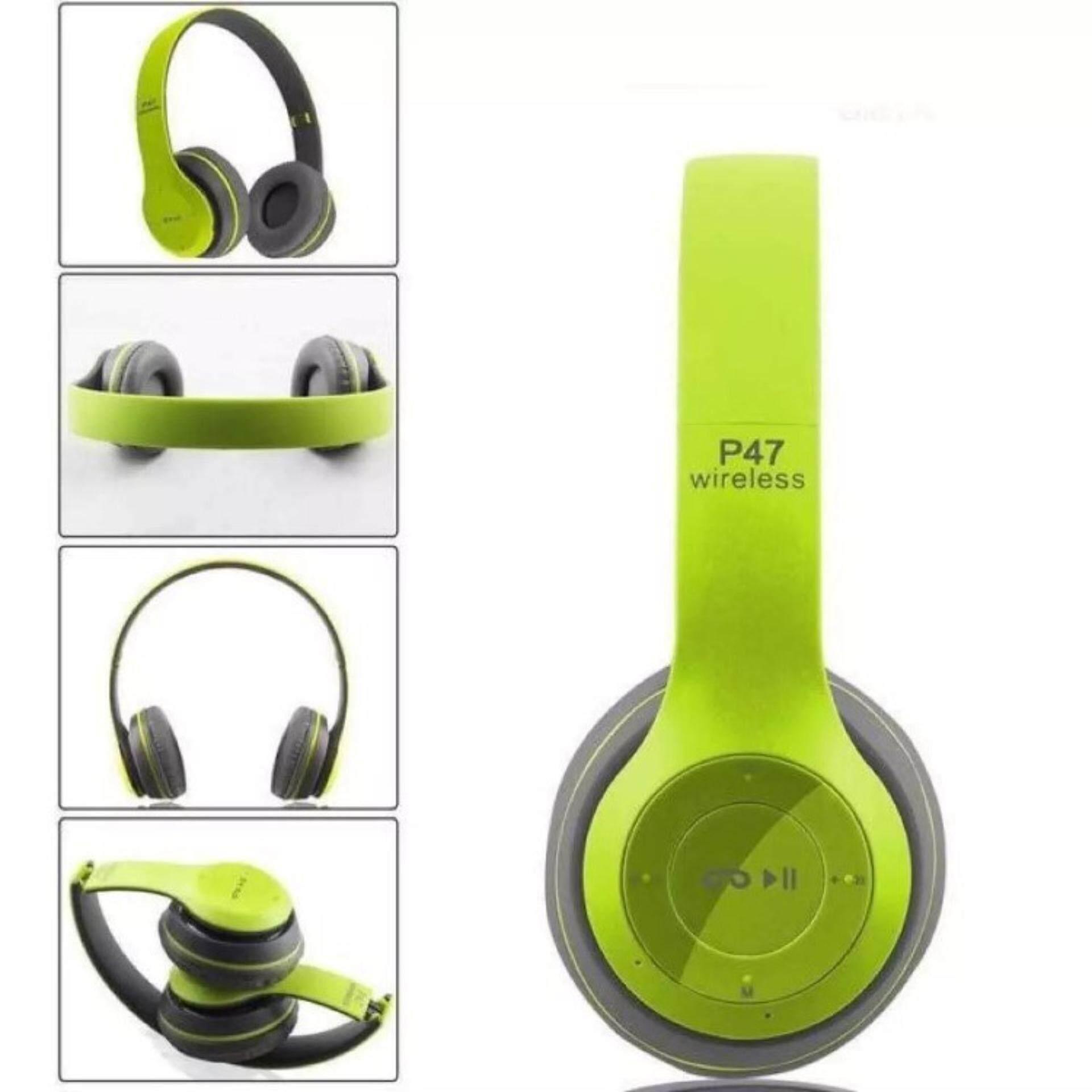 P47 Wireless 4.2+edr หูฟังบลูทูธแบบครอบหู.