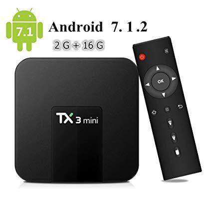 ส่วนลด  สุพรรณบุรี TX3 Mini Android 7.12 TV BOX 2GB 16GB Amlogic S905W Quad Core Smart TV Set Box