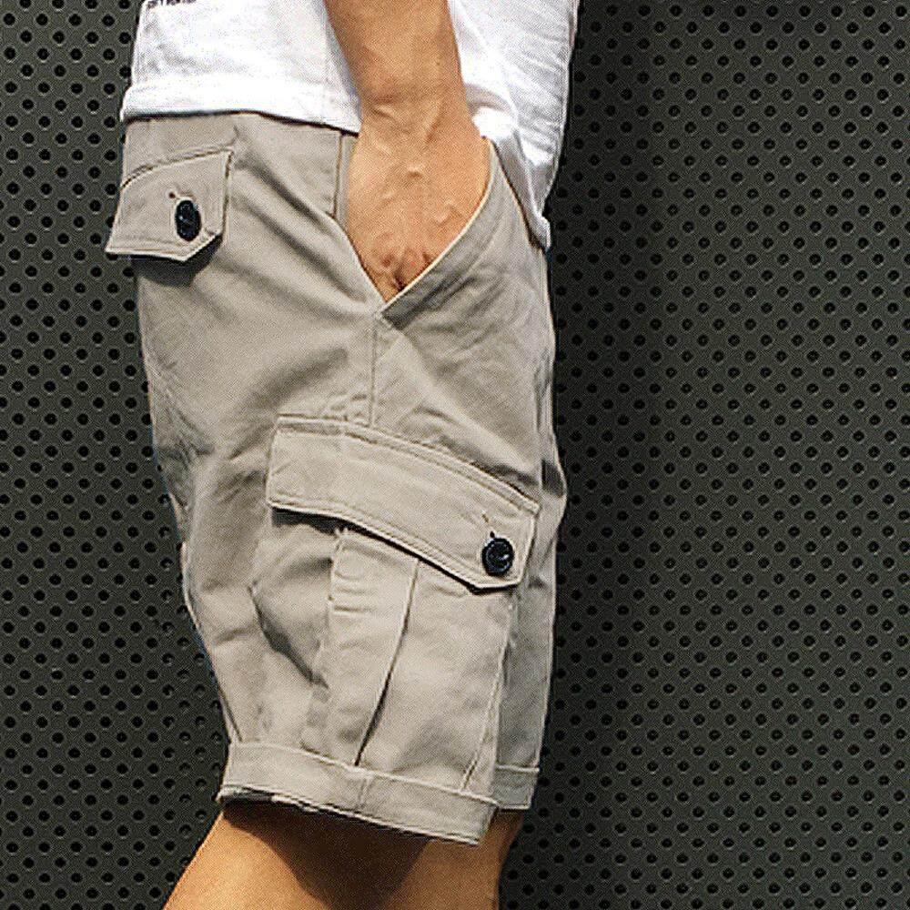 กางเกงขาสั้น กระเป๋าข้าง ผ้าชิโน By Poptartstore.