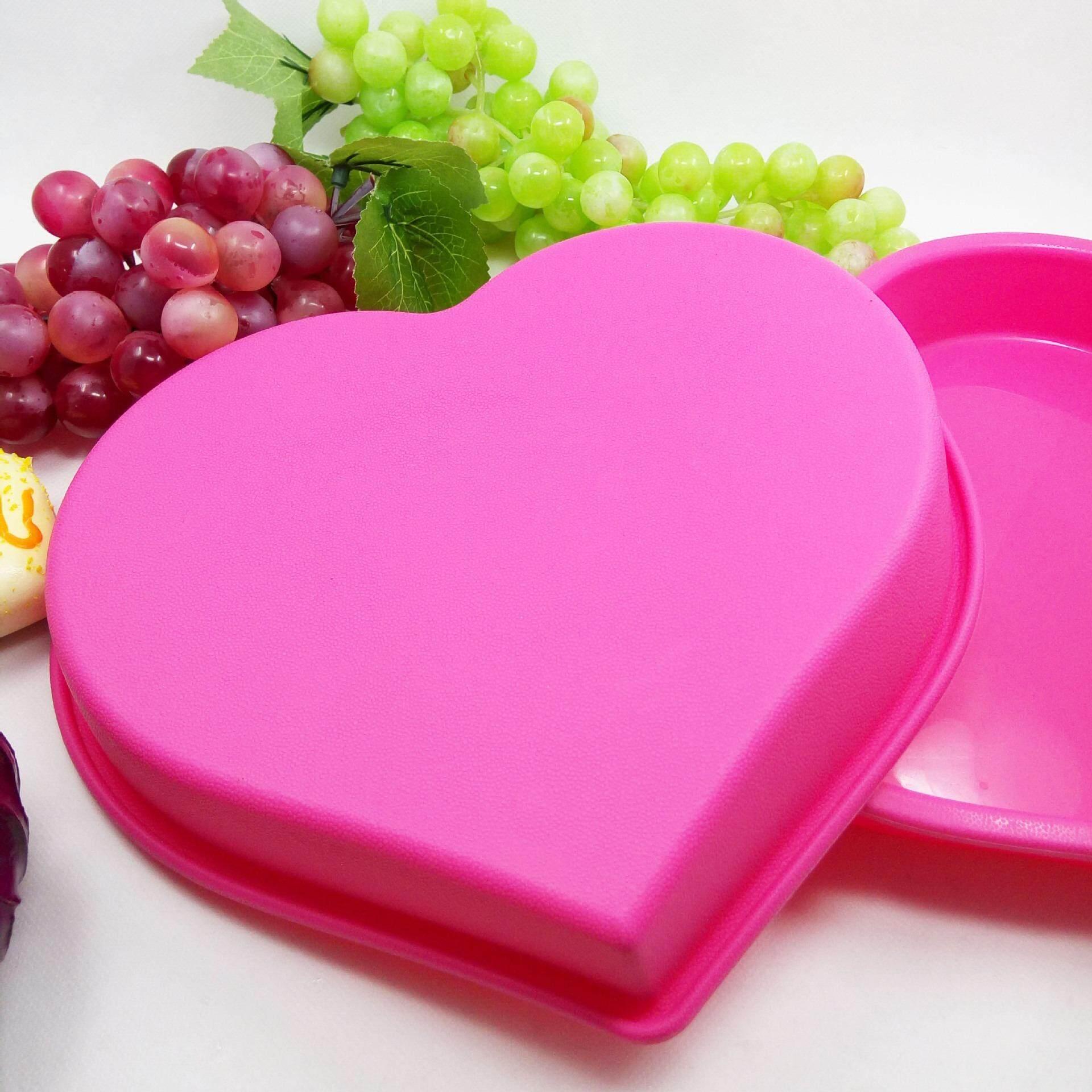 แม่พิมพ์ซิลิโคนเกรดสำหรับสัมผัสอาหาร Silicone Sff828 ขนาดใหญ่หน้าทอปรูปหัวใจ Heart Shape.