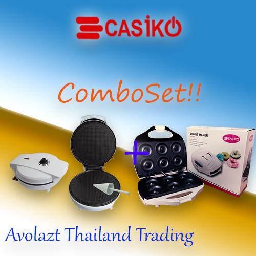 ชุดสุดคุ้ม!!ล็อตใหม่ล่าสุด2018!!!เครื่องทําโคนไอศครีมเเละทองม้วน+เครื่องทําโดนัท By Avolazt Trading (thailand) Co.,ltd.