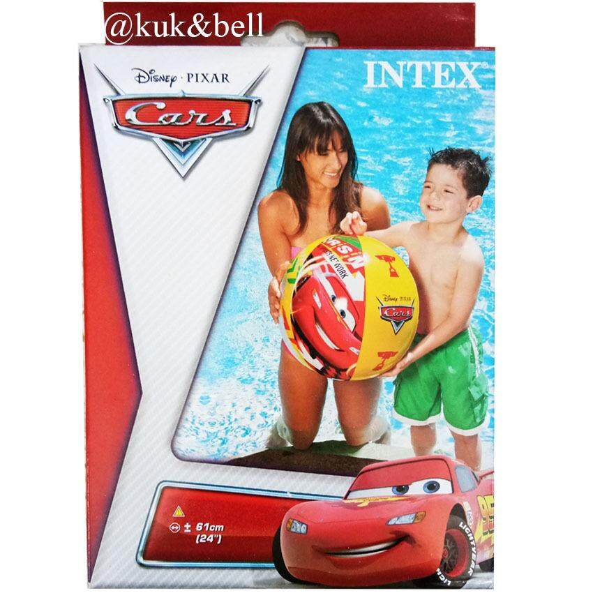 Coco Toy ลูกบอลชายหาดเป่าลม ø20(51cm.) Beach Ball ลายรถคาร์ 58053np By Coco Toy
