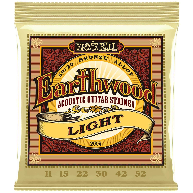 ERNIE BALL® สายกีตาร์โปร่ง เบอร์ 11 ของแท้ 100% รุ่น Earthwood (Light .011 - .052) ** Made in USA **