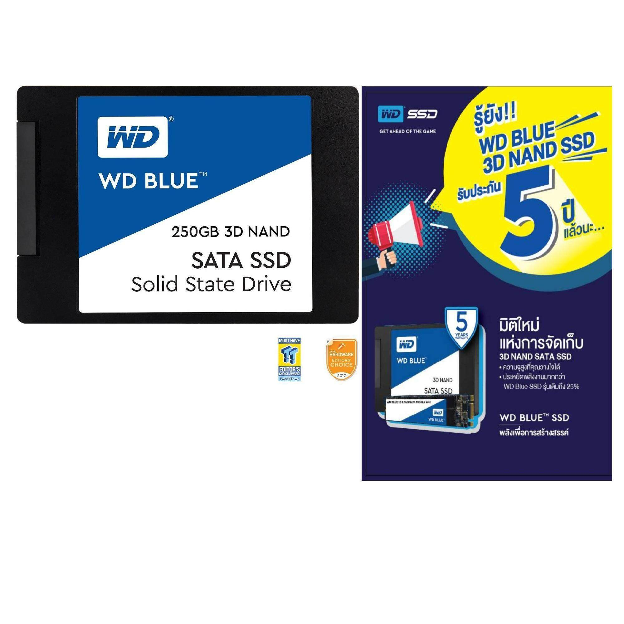 โปรโมชั่น 250Gb Ssd เอสเอสดี Wd Blue 3D Nand 250Gb Pc Ssd Sata Iii 6 Gb S 2 5 7Mm Solid State Drive Wds250G2B0A 5 Years Waranty By Synnex Wd 40 ใหม่ล่าสุด