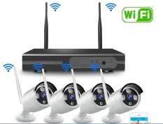 NIKYTEK-WiFi NVR 4CH KiT 2MP FHD 1080P กล้องวงจรปิดไร้สาย 4ช่อง 2ล้านพิกเซล