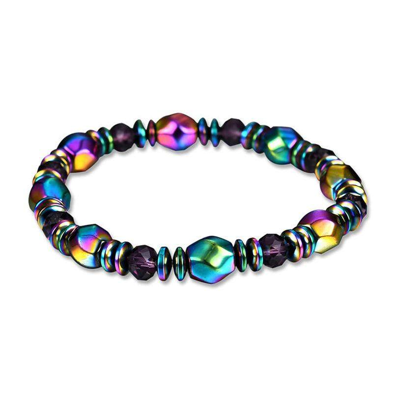Hins สร้อยข้อมือหินสี Multi-Color Magnet Stone Bracelet รุ่น 76286 By Osmin.
