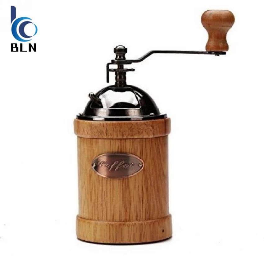 ขาย 【Bln Home】Home 23 2400 Hand Crank Manual Canister Stainless Steel Burr Coffee Grinder Mill Stainless Steel Top And Solid Wood Body 3 4 X6 6 Unbranded Generic เป็นต้นฉบับ