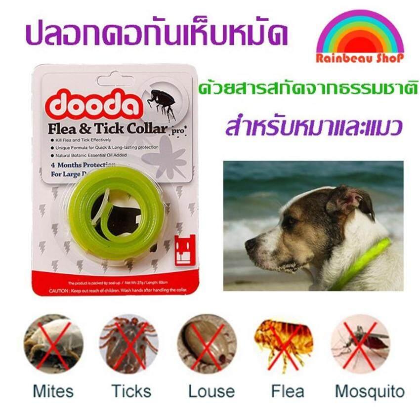 Crvid Dooda Flea & Tick Collar Pro ปลอกคอกันเห็บ หมัด ป้องกันกำจัดเห็บหมัด ยุง และแมลงที่มากวนสัตว์เลิ้ยงแสนรัก ด้วยสารสกัดจากธรรมชาติ เหมาะสำหรับหมา แมว สุนัข ไม่เป็นอันตรายต่อสัตว์เลิ้ยง ใช้งานได้ 4 เดือน (สีเขียว) By Crvid.