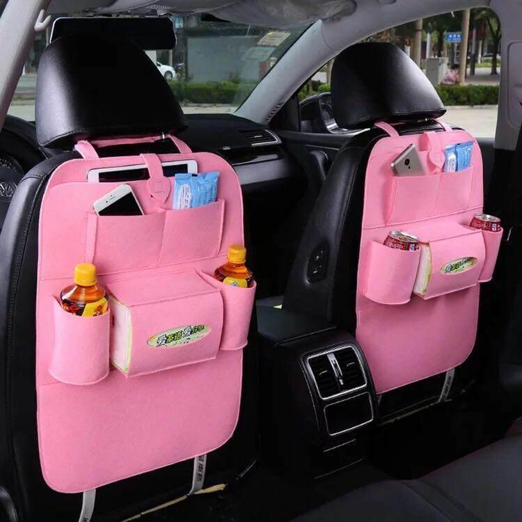 Hangroo กระเป๋าใส่ของหลังเบาะรถยนต์ ที่ใส่ของหลังเบาะรถอเนกประสงค์ เก็บของในรถ แขวนหลังเบาะ By Hangroo.