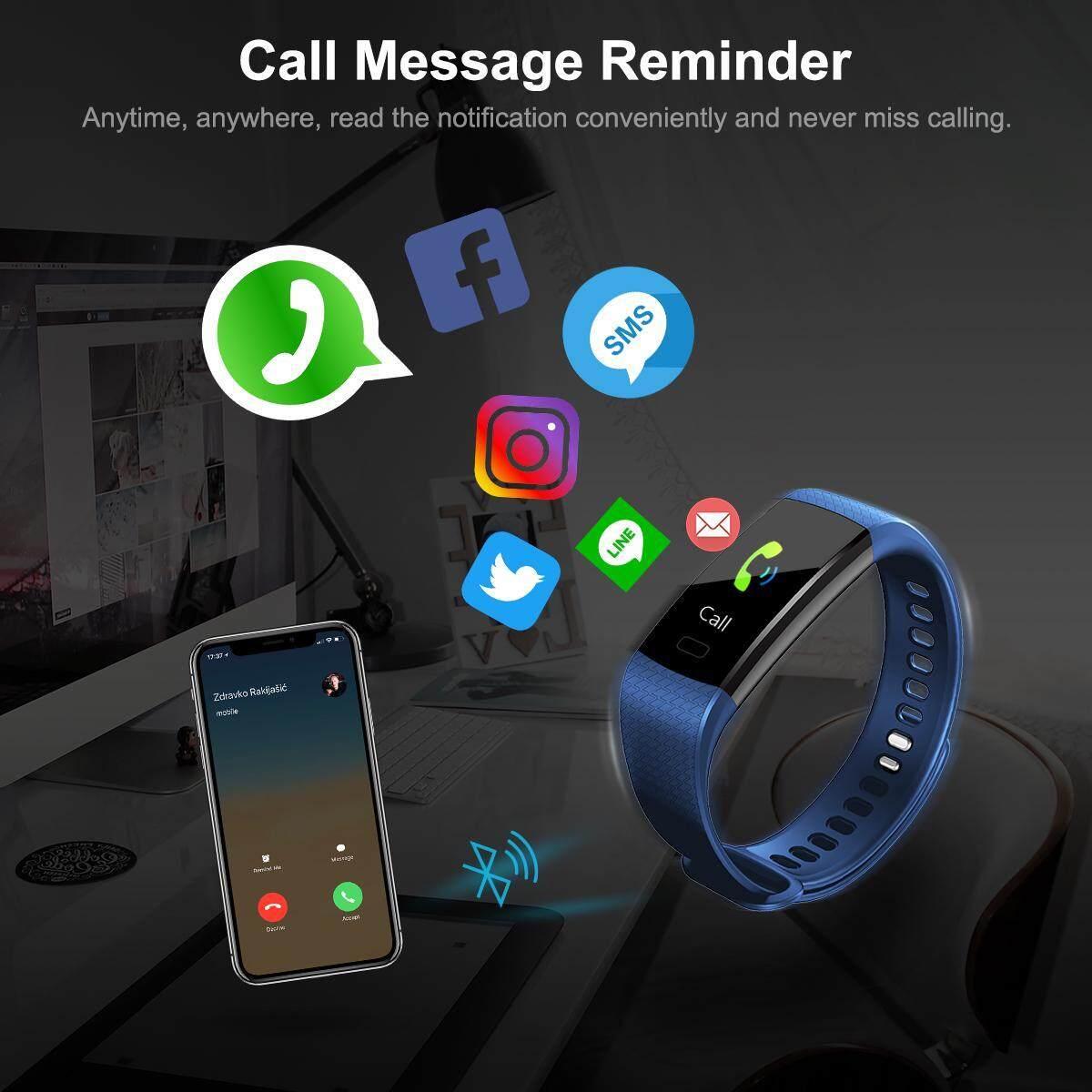Smart Watch นาฬิกาอัจริยะ วัดความดัน วัดการวิ่ง เตือนการโทรเข้า ตั้งปลุก นาฬิกา Smart Barnd นาฬิกาที่ตอบโจทย์ ใส่ได้ทุกเพศ ทุกวัย รุ่น M4 By Allbag.