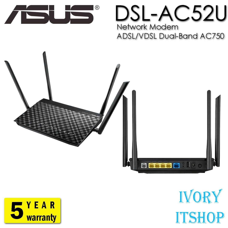 Asus Dsl-Ac52u Dual Band Ac750 Wi-Fi Adsl/vdsl Modem Router By Ivoryitshop.