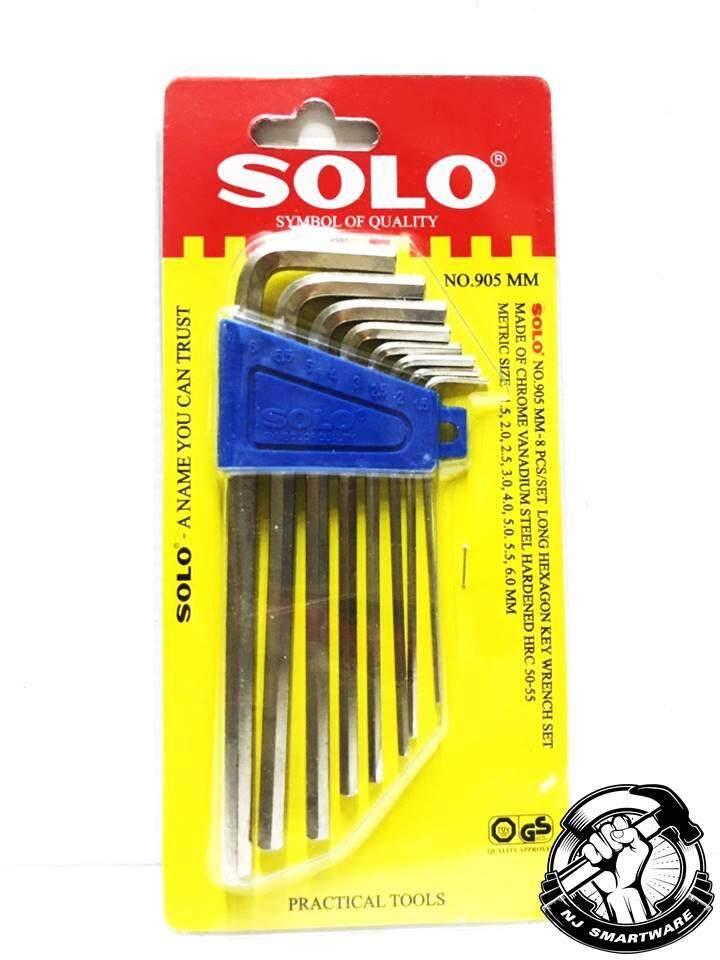 ขายดีมาก! **ส่งฟรี Kerry** SOLO ประแจหกเหลี่ยม หัวตัด 8 ตัว/ชุด (มิล) รุ่น 905MM ของแท้ 100% แข็งแรง ทนทาน พกพาสะดวก