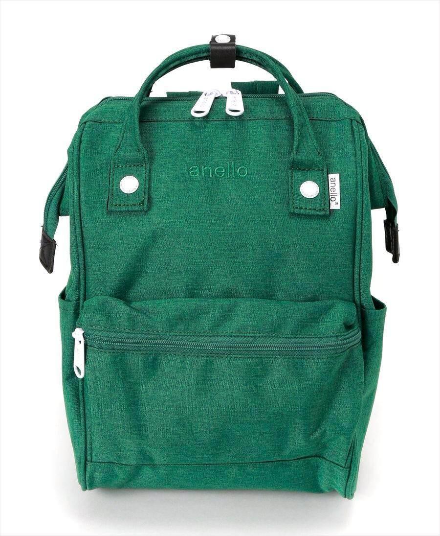 สอนใช้งาน  ตราด กระเป๋า Anello Mottled Polyester Hinged Clasp Backpack (Classic Size) - Japan Imported แท้ 100%