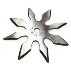 SHURIKEN 8 BLADE มีดขว้าง 8 แฉก (1 ชุด 3 อัน) วัสดุเหล็ก พร้องซองผ้าเก็บตัวมีด