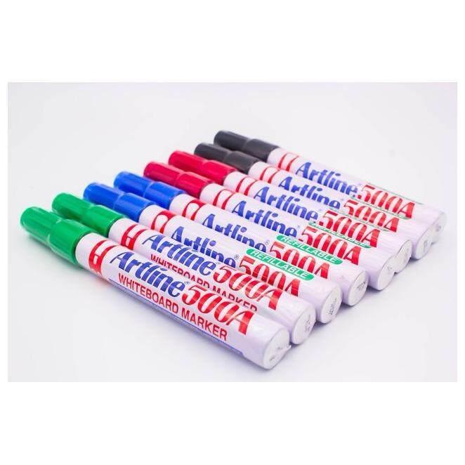 ซื้อ Artline ปากกาไวท์บอร์ด หัวกลม ชุด 8 ด้าม สีดำ น้ำเงิน แดง เขียว เติมหมึกได้ Artline ออนไลน์