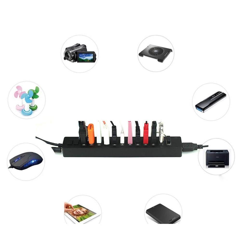 Abbottstore ใหม่ 12 พอร์ตความเร็วสูง 2 - On/off Sharing Switch Usb2.0 Hub สำหรับแล็ปท็อป Pc By Abbottstore.