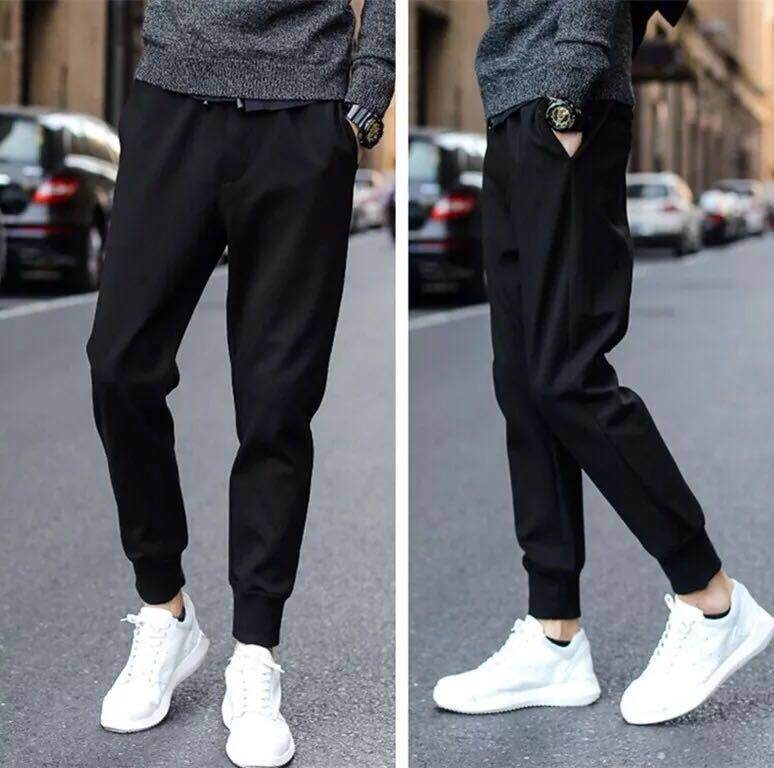 Vm กางเกงขายาว ลำลอง ผู้ชาย (สีดำ) รุ่น L0003.