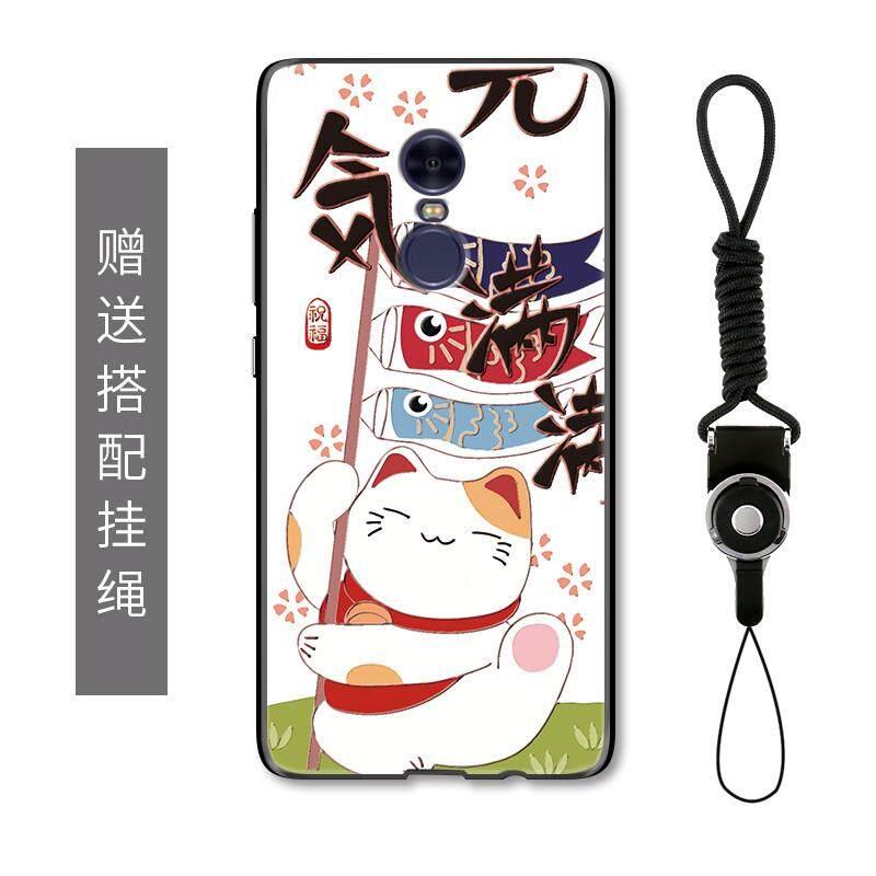 แมวนำโชค Xiaomi Redmi note4x เคสมือถือเฉลิมฉลองการ์ตูนความคิดสร้างสรรค์ภาพสลักนูน Redmi note4 เคสป้องกันหญิง
