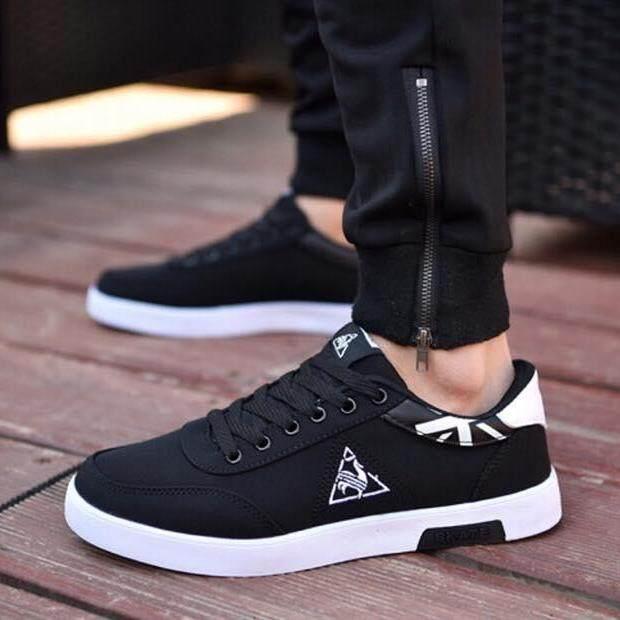 Cash fashion รองเท้า รองเท้าผ้าใบสำหรับผู้ชาย B020