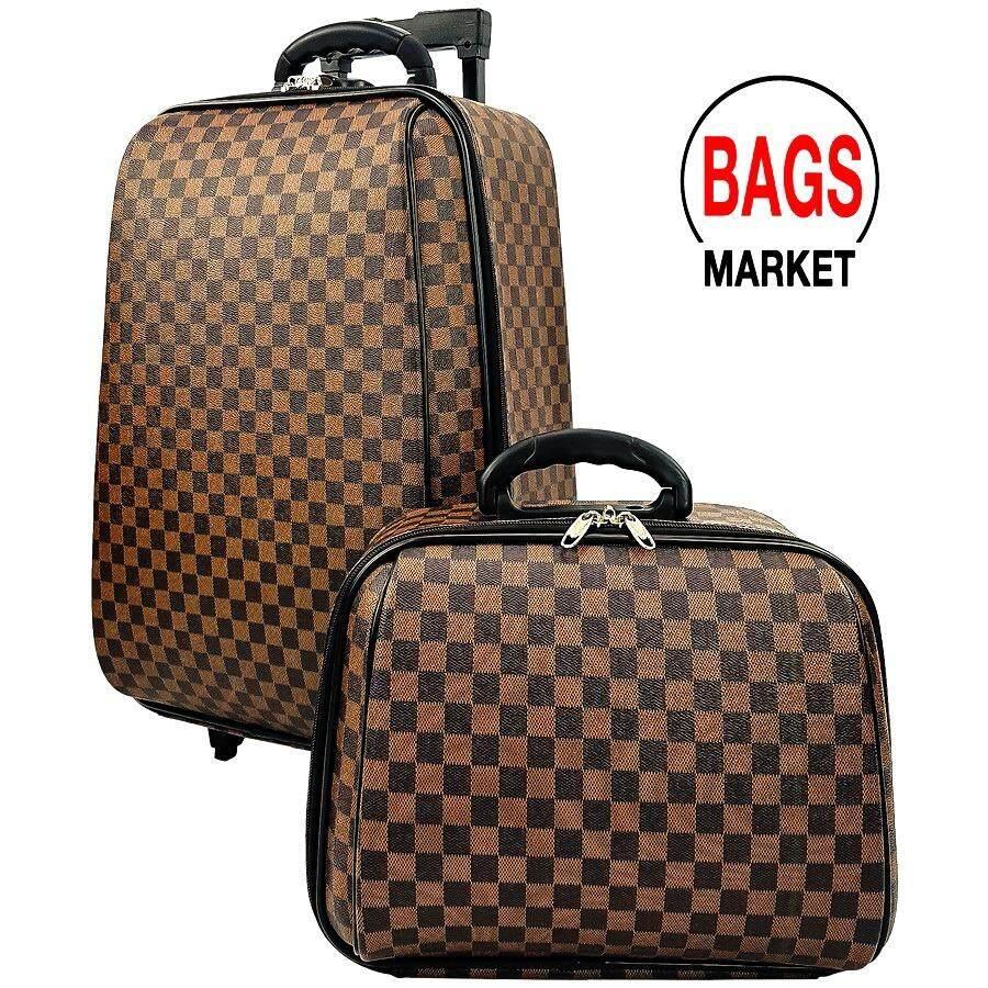 ราคา ราคาถูกที่สุด Wheal กระเป๋าเดินทาง ล้อลากระบบรหัสล๊อค ขนาด 18 นิ้ว 14 นิ้ว Luxury Classic Brown Code F1812