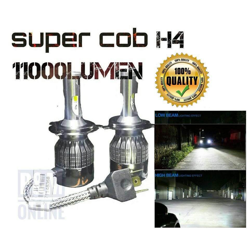 ซื้อ หลอดไฟหน้ารถยนต์ หลอดไฟรถยนต์Led ไฟหน้า Led H4 ไฟสูง ต่ำ36W ความสว่าง 11000 ลูเมน แสงขาว 6000K 2 หลอด รุ่น C7 ถูก