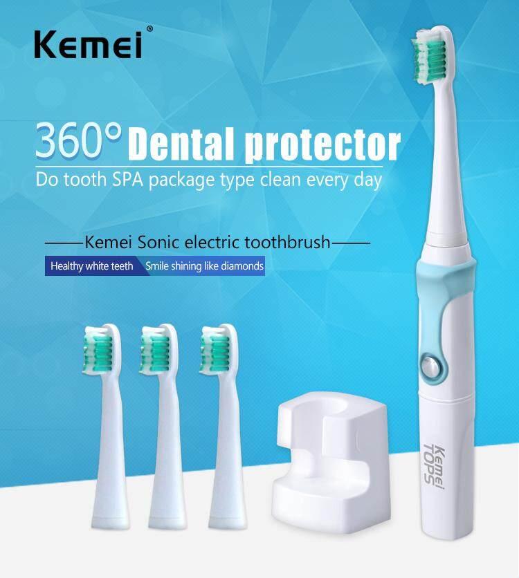 Geek lab Kemei TOPS แปรงสีฟันไฟฟ้าอุลตร้าโซนิค รุ่น KM-907