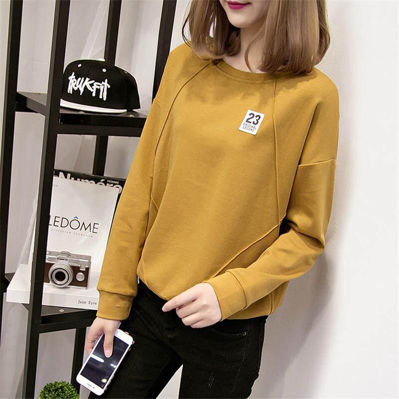 เสื้อยืดแขนยาวหญิง 2019 ฤดูใบไม้ผลิใหม่สไตล์เกาหลีเข้าได้หลายชุดนักเรียนหลวมแบบบางฤดูใบไม้ผลิและฤดูใบไม้ร่วง Ins เสื้อผ้าแฟชั่น เสื้อน้ำเสื้อรองใน By Taobao Collection.