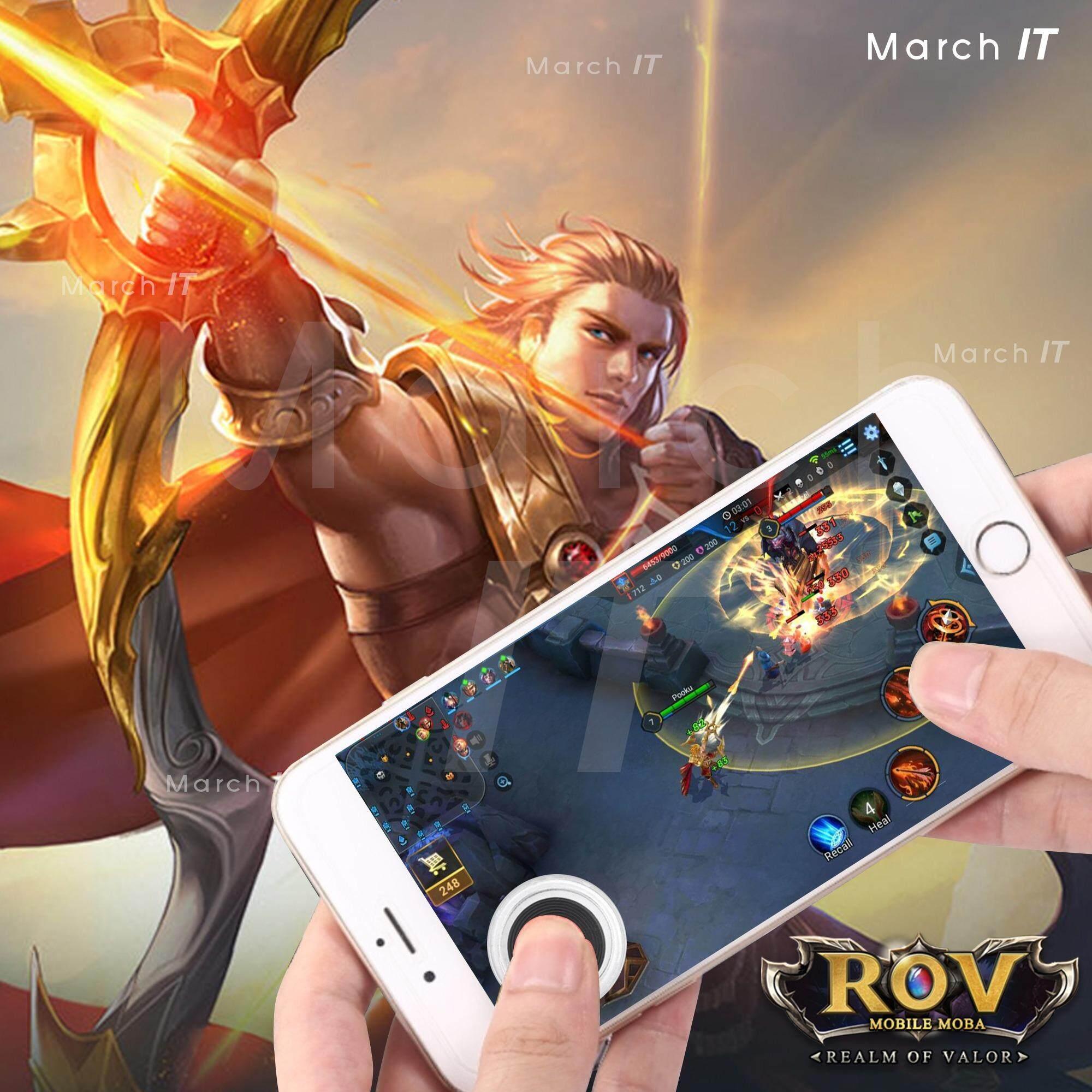 จอยเกม จอยสติ๊กสำหรับเกมส์มือถือ iphone/samsung (ROV, Mobile Legends, Fifa, NBA Live) joystick