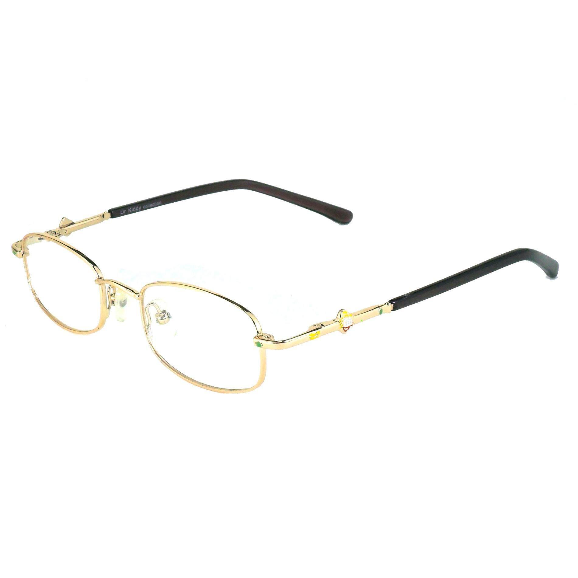 Korea Children Glasses แว่นตาแฟชั่นเด็ก แว่นตาเด็ก รุ่น 0099 ขาสปริง วัสดุ สแตนเลสสตีล หรือเหล็กกล้าไร้สนิม Stainless Steel Kid Eyewear (สำหรับตัดเลนส์) เบาสวมไส่สบาย By See Too You.