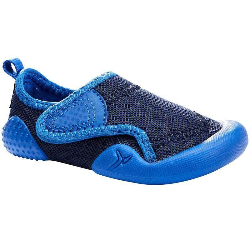 ++ส่งฟรีทั่วไทย++ รองเท้าออกกำลังกายเด็กอ่อน, รองเท้าฝึกฝนเด็ก รองเท้ายิมนาสติกเด็กเล็กรุ่น 500 Babylight (สีน้ำเงิน) By Daddy.