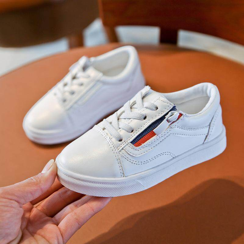 ราคา Zhongda ฤดูใบไม้ผลิใหม่เด็กรองเท้าสีขาว Unbranded Generic เป็นต้นฉบับ