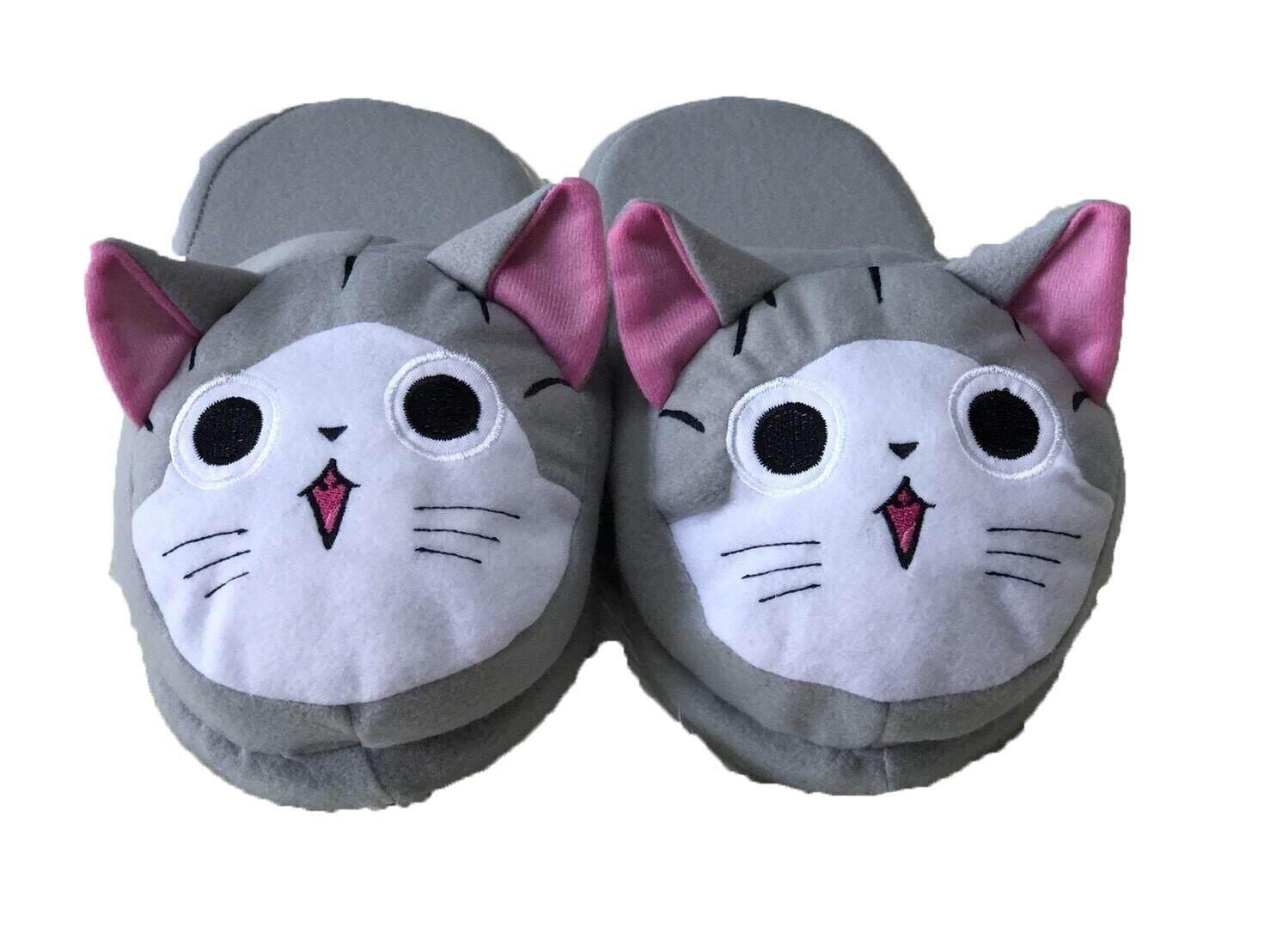 รองเท้าแมวจี้ เนื้อนุ่ม น่ารัก สำหรับใส่ในบ้าน หรือ ที่ทำงาน By Tuktaninoshop.