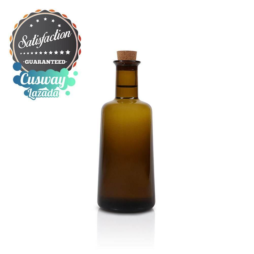 ขวดแก้วพิเศษสำหรับสติฟ สีชาแท้กันแสง ฝาจุกคอร์ก ทรงบ่มกลิ่นกลมกล่อม 250 Ml. By Cusway Online.
