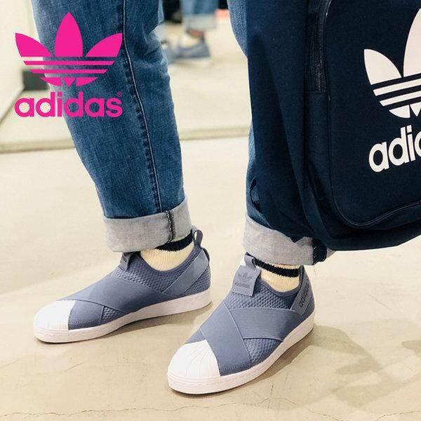 เก็บเงินปลายทางได้ Adidas รองเท้า สลิป ออน อาดิดาส Superstar Slip on Blue White Limited ไม่มีจำหน่ายในประเทศไทย (ลิขสิทธิ์แท้ 100%) ส่งไวด้วย kerry!!!