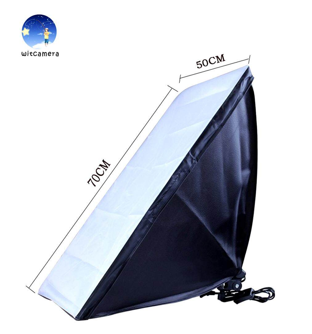 โคมไฟสตูดิโอ ซอฟบอค 50x70 รุ่นยอดนิยม Photographic Equipment 50x70cm Softbox Soft Box E27 Lamp Holder/socket For Studio Continuous Lighting.