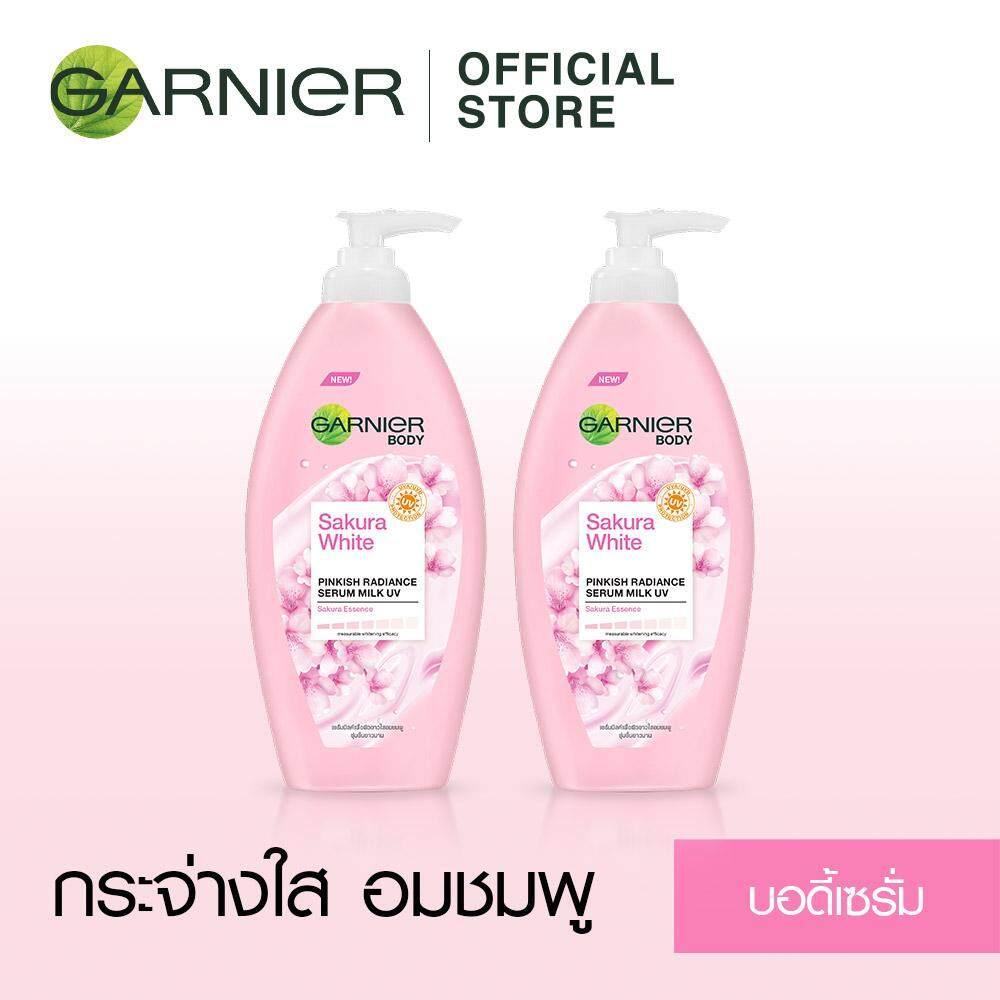 แพ็คคู่ การ์นิเย่ ซากุระ ไวท์ บอดี้ โลชั่น 400 มล.(2 ขวด) Value Pack Garnier Sakura White Body Lotion 400 Ml (2 Bottles)(โลชั่นผิวขาว_โลชั่นบำรุงผิว) By Garnier(thailand).