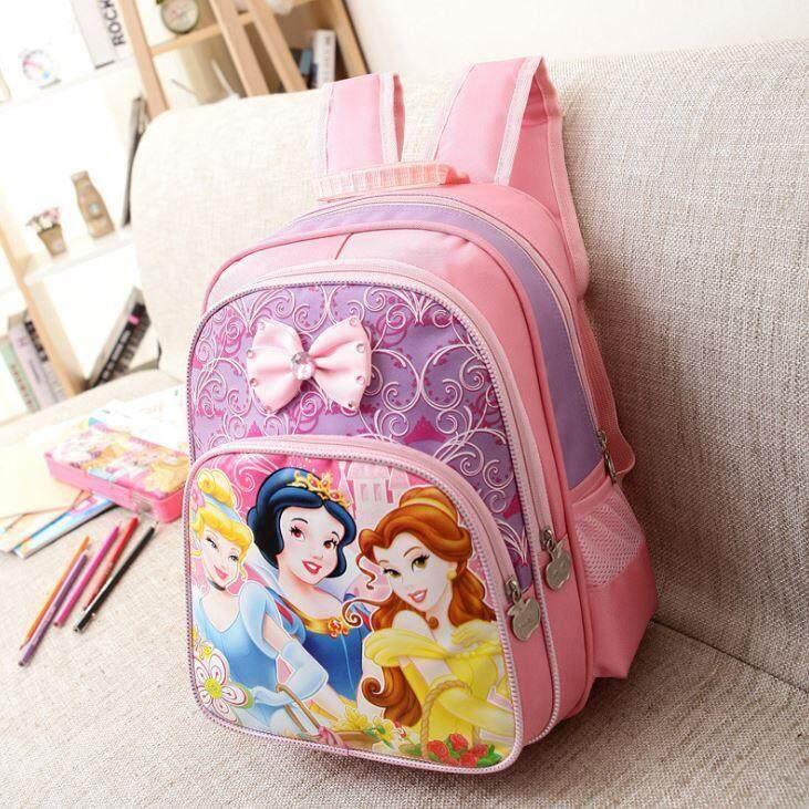 กระเป๋านักเรียน กระเป๋าเป้เด็ก กระเป๋าสะพายหลัง ลายเจ้าหญิง/ลายการ์ตูน.