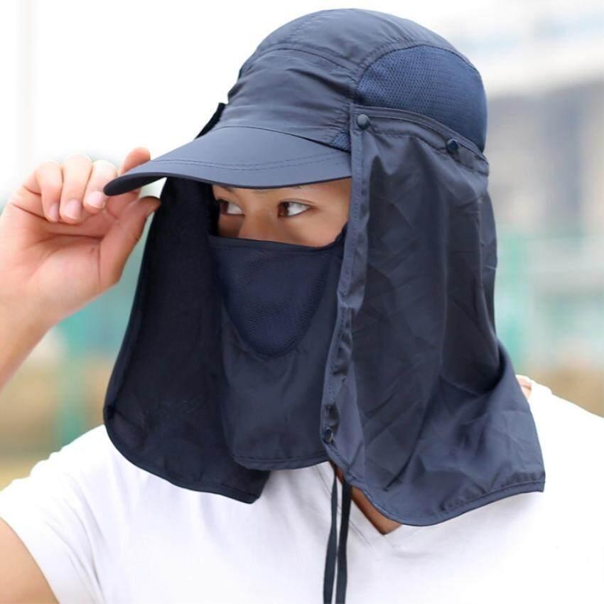 Veen หมวกผ้ากันแดด หน้ากากบังแดดร้อน ระบายอากาศดี ปิดหน้าถีงคอรอบ 360 สามารถถอดที่ปิดหน้าและปีกได้ Upf50+ Sunproof Cover Cap By Veen.