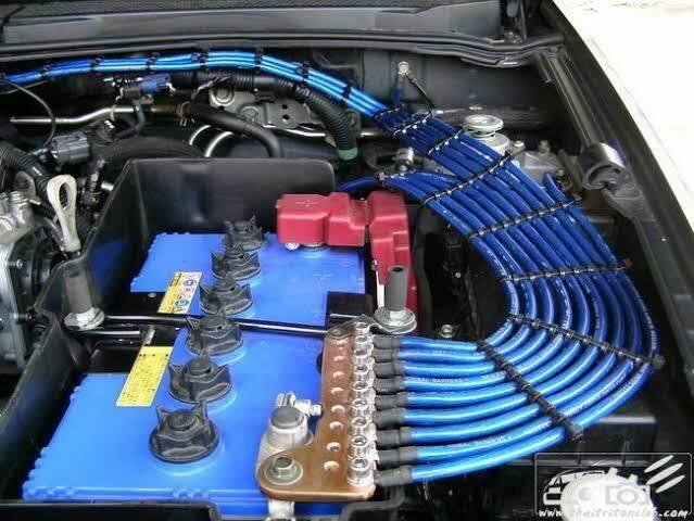 สายกราววาย 5 เส้น สีน้ำเงิน Hks Groundng Wire Kit By Thunder Racing Shop.