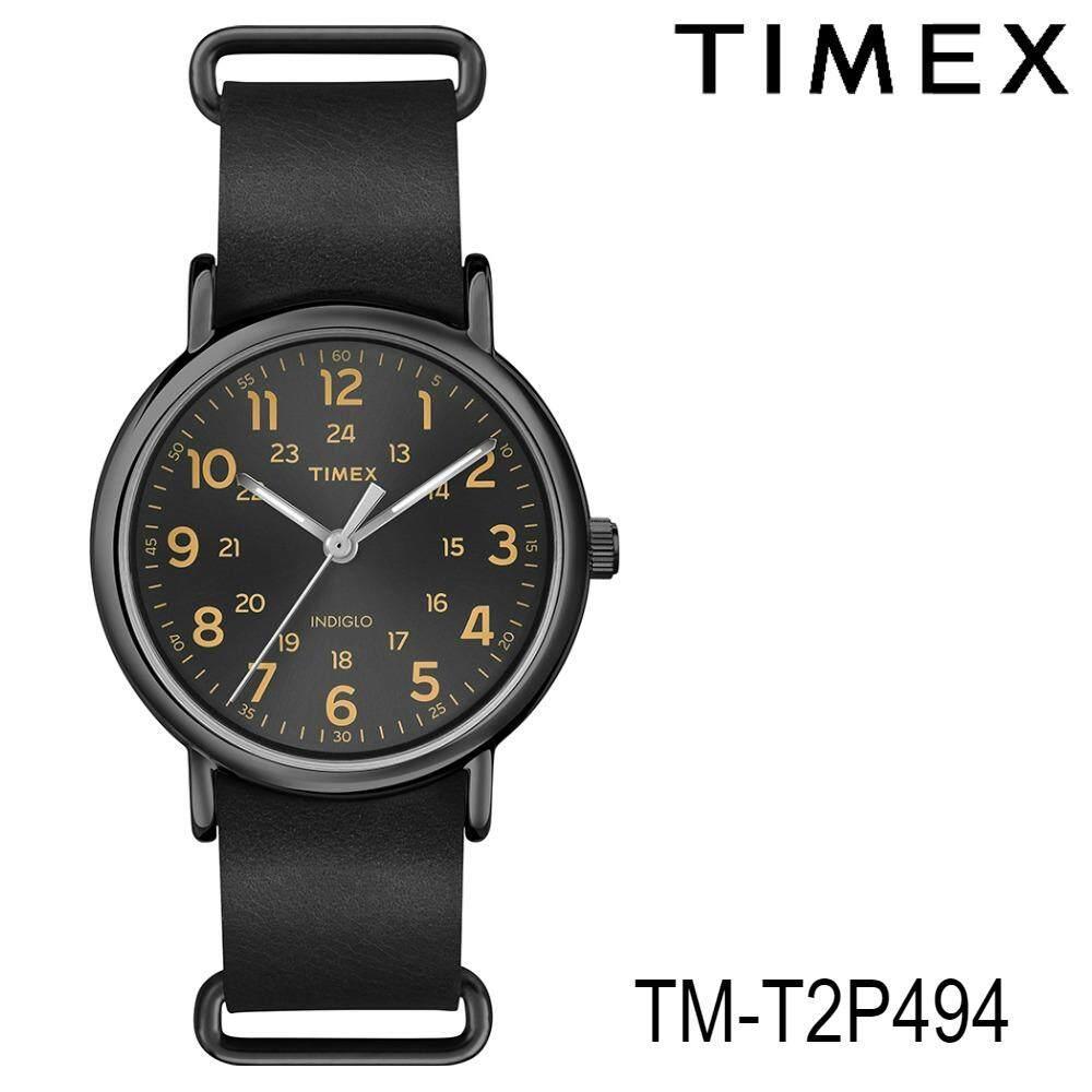 ราคา Timex Tm T2P494 นาฬิกาข้อมือผู้ชาย สายหนัง สีดำ ออนไลน์