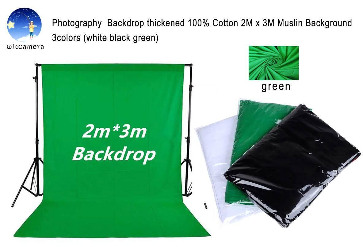 Photography  Backdrop Thickened 100% Cotton 2m X 3m Muslin Background 3colors (white Black Green) ฉากหลังการถ่ายภาพหนา 2m X 3mมัสลินผ้าฝ้าย 100% 3สี ( สีขาว สีดำ สีเขียวพื้นหลัง  ).