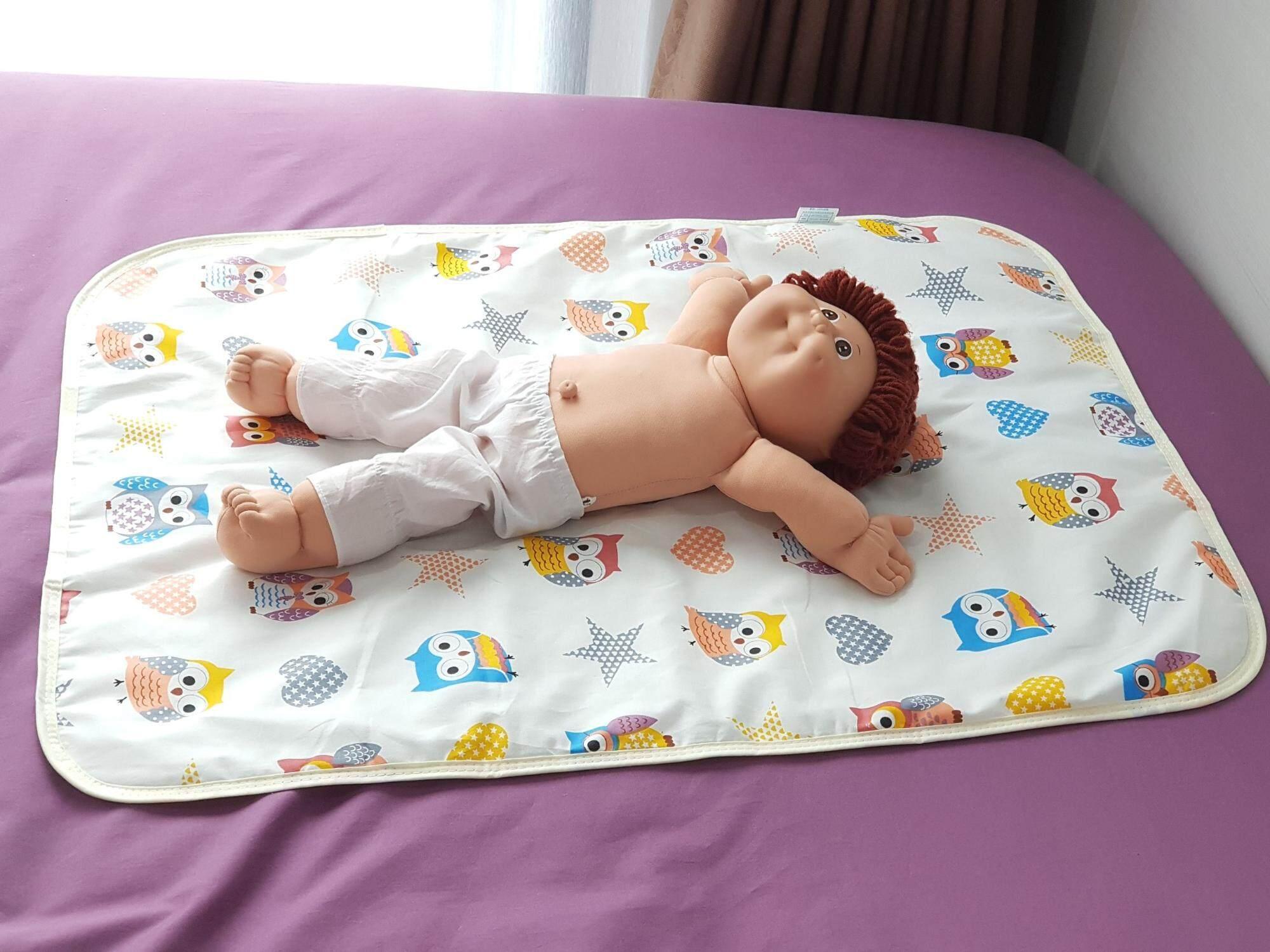 2 ผืน!! ผ้ารองกันเปื้อน ผ้ารองฉี่ กันน้ำ ผ้ารองเปลี่ยนผ้าอ้อม 50*70 เซน By Talay.