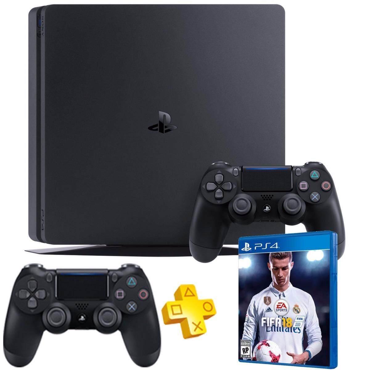 PS4 Slim 500GB ประกันศูนย์ SONY ไทย CUH-2106A (2 จอย) พร้อมแผ่น FIFA18 [Zone 3]