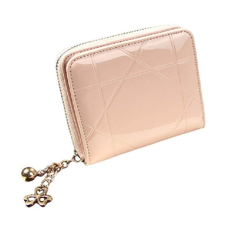 กระเป๋าสตางค์แฟชั่นสุภาพสตรีหนังเคลือบเงาใบสั้น ใหม่ล่าสุด