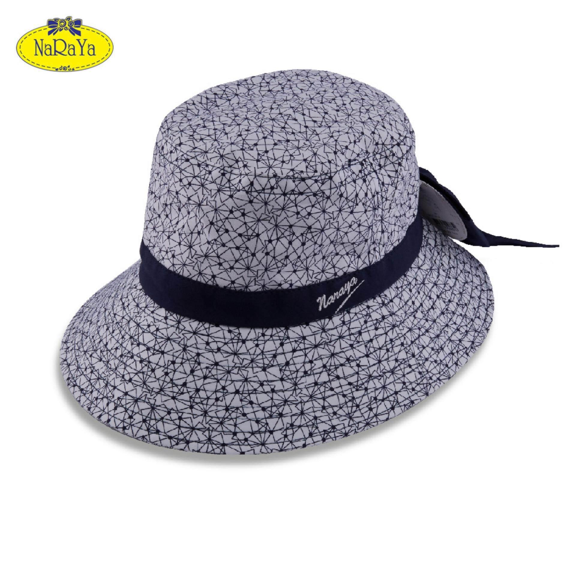 หมวก NaRaYa Geometric Printed with Bow