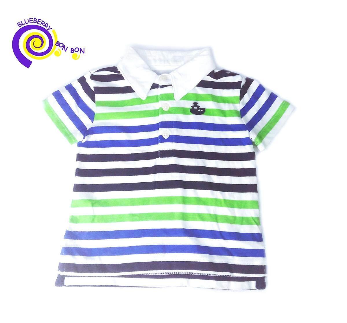 เสื้อโปโล ผ้านุ่ม เบา ระบายความร้อนได้ดีเยี่ยม 100%cotton Blueberry Bon Bon Size : 3-6 Months สินค้าขายดี มีจำนวนจำกัด By Blueberry Bon Bon.
