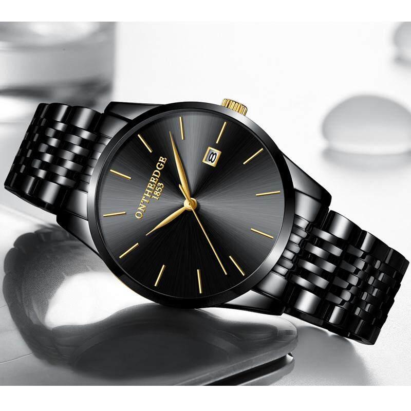 Rontheedge นาฬิกาสไตล์เกาหลีสำหรับผู้ชายระบบควอตซ์กันน้ำรุ่นบาง By Taobao Collection.