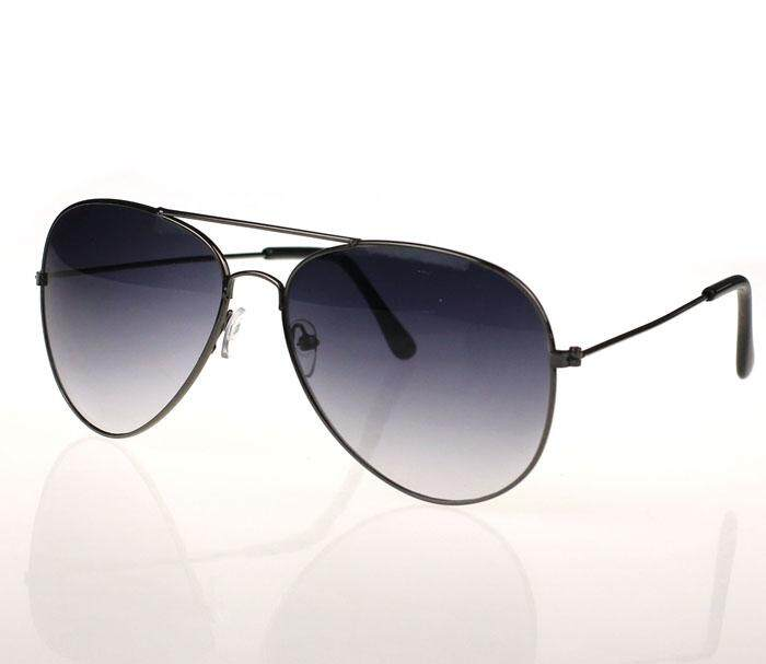 ผู้ชายและผู้หญิงโลหะคลาสสิกแว่นตากันแดดดีไซเนอร์สีเทา By Cocofasion.