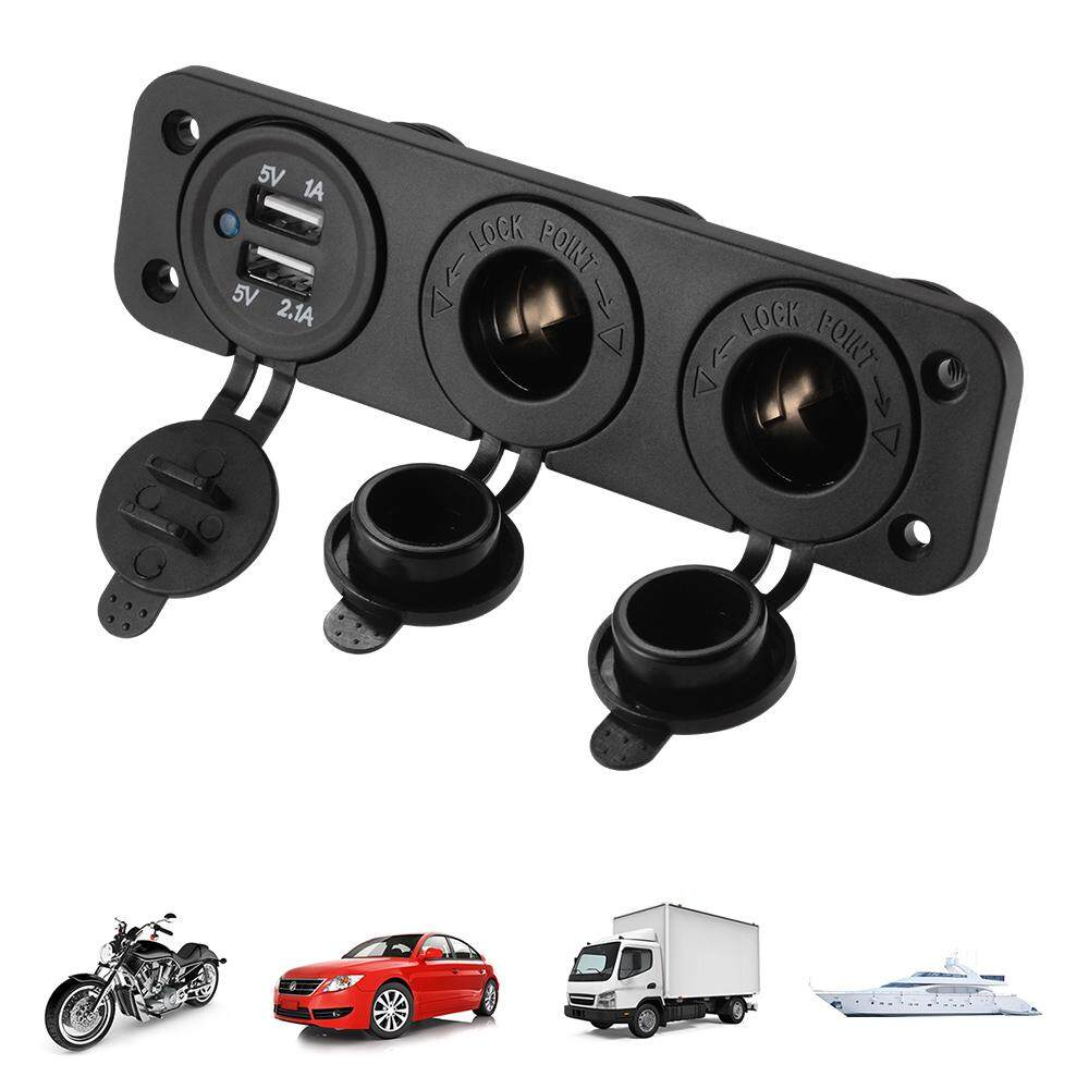 ช่องเสริม Usb 12v  ช่องต่อบุหรี่ Lighter Socket Splitter Charger สำหรับ รถยนต์.