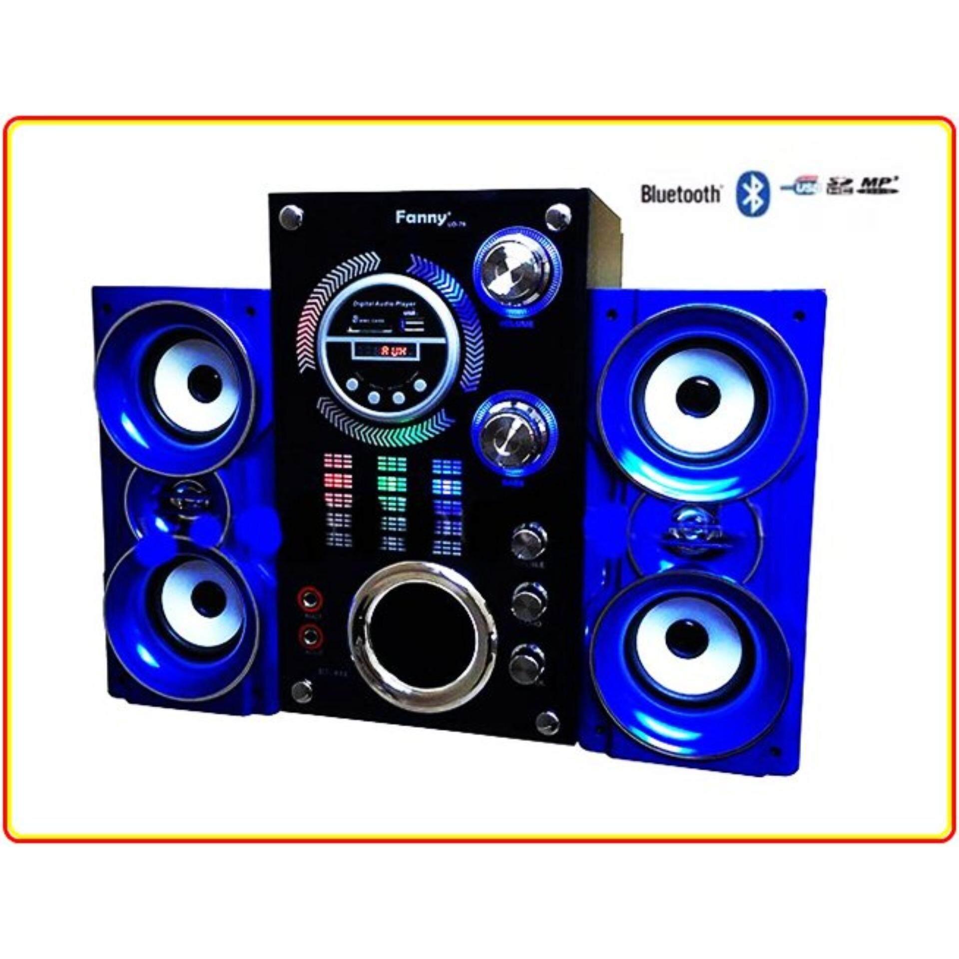 Fanny ลำโพงซับ Bluetooth 2.1 รุ่น BT-444 +FM,USB สีนำ้เงิน-ขาว